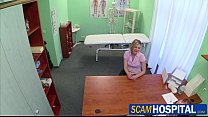 Blonde horny patient gets fucked by her doctor in the examining table porn videos