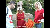 Innocent blonde cheerleader learns how to fuck and suck thumbnail
