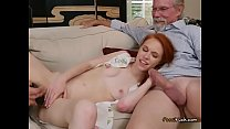 Young Ginger Dolly Little Enjoys Old Guys Big Cock