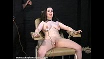 Merciless electro tortures of chubby Nimue Allen thumb