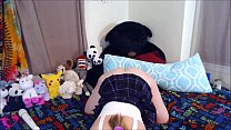 ANDI SEXY SMOKE AND SPANK IN SCHOOLGIRL OUTFIT (BUTT PLUG ORGASM AT END) PT. 3