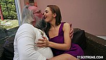 Old man bangs Dominica Fox's tight young pussy Thumbnail