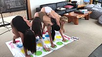 Hot Lesbain Milf Plays Naked Twister with 3 t... Thumbnail