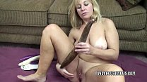 Curvy MILF Liisa is fucking her sweet twat with veggies Thumbnail