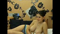 friend shows her huge natural breasts on cam