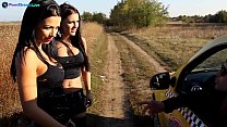 Shalina and Honey looking for some in the middle of nowhere Thumbnail