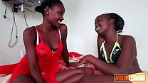 Gorgeous African Lesbo Couple Have Oiled Up Pussy Party Thumbnail