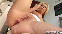 nal blonde s holes penetrated and cum filled