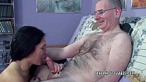 mature brunette cleo leroux is swallowing a stiff cock