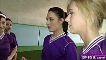 Tought teens goes naked in the field survival o...