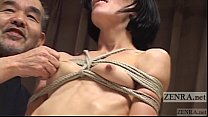 CMNF Subtitled Japanese nose BDSM with Elise Gr...