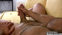 Hairy Latin Beef Cake Beats His Meat