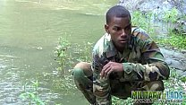 Cock-strong twink soldier by the river Thumbnail