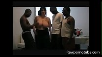 BBW Milf In A Interracial Gangbang