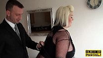 Fat brit subs in fishnets during roughfucking Thumbnail
