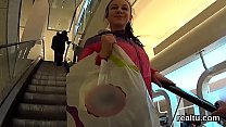 Beautiful czech nympho is teased in the mall an...