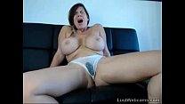 Busty brunette squirts on webcam thumb