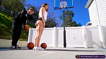 College basketball chick gets fucked in the ass...