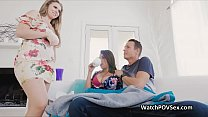 Bigtit wife joins cheating husband for a threeway