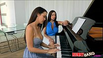 Dillion Harper threesome action with her piano ...