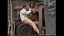 Peasant Girl Fucked Rough On The Tractor