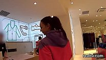 Beautiful czech chick gets tempted in the hyper...