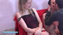 Lapdancing MILF gives BJ and gets licked till o...