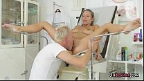 Busty Tanned Teen Blonde Get A Thorough Checkup...
