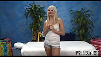 Stunning babe plays with guy's rod by hands and mouth