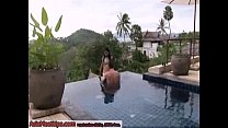Beautiful Thai girl met on asiameetups came to my place and get asscreampied