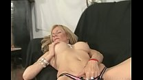 Goodly blonde masturbating pussy and getting na... Thumbnail