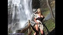 German couple fuck in the mountains