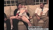 Bisexual Britni Gets a Tampa Bukkake Cheerleader Bang!