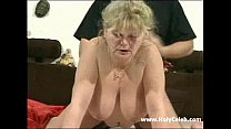 Chubby Granny with Toys Then a Real Cock Thumbnail