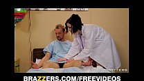 checkup thorough a patient her gives fishnets in doctor Sexy