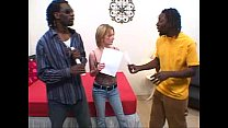 Interracial blonde threesome
