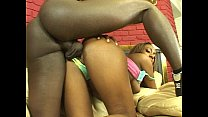 Ebony chick and  a fat black cock