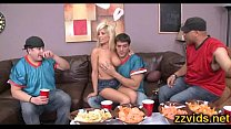 Hot blonde Tasha Reign fucks with boyfriend