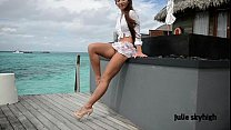 maldives teasing GML sandals & floating skirt C...