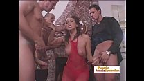 time same the at cocks three by fucked gets brunette gorgeous yasmine