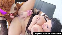 Cuban Babe Angelina Castro Fucks Her Teddy Bear... Thumbnail
