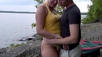 horny scandi teens fucking crazy in nature