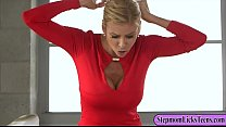 Alexis Fawx and Chloe Couture licking and finge...
