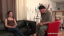 Squirt french brunette hard analized for her amateur casting couch