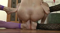 DominaFist - Fancy pantyhose and double footing