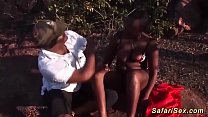 big natural breast african babes first threesome fuck orgy
