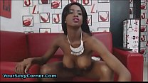 Tall Busty Ebony Babe Fucks All Holes Deep And ...