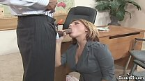 Office MILF Seduce to Fuck by Black Boss with H...