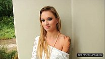 casting pov a in blonde tattoed perfect piaff, Angel