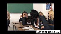 9 Girl Orgy with London